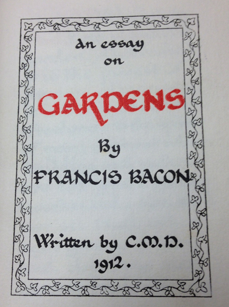 ... to a Mrs. E. Wrigley by the famous Bacon