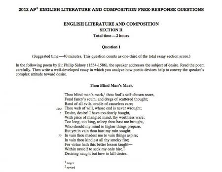 ap english language and composition essay prompts 2012 Index of argument questions ap english language and composition exam reprint date: 5/16/2011 ap language & comp, phhs a persuasive essay that defends.