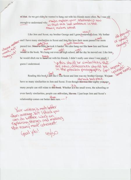 Here is an example of a compare and contrast essay