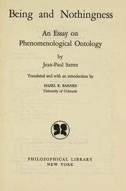 An essay on phenomenological ontology